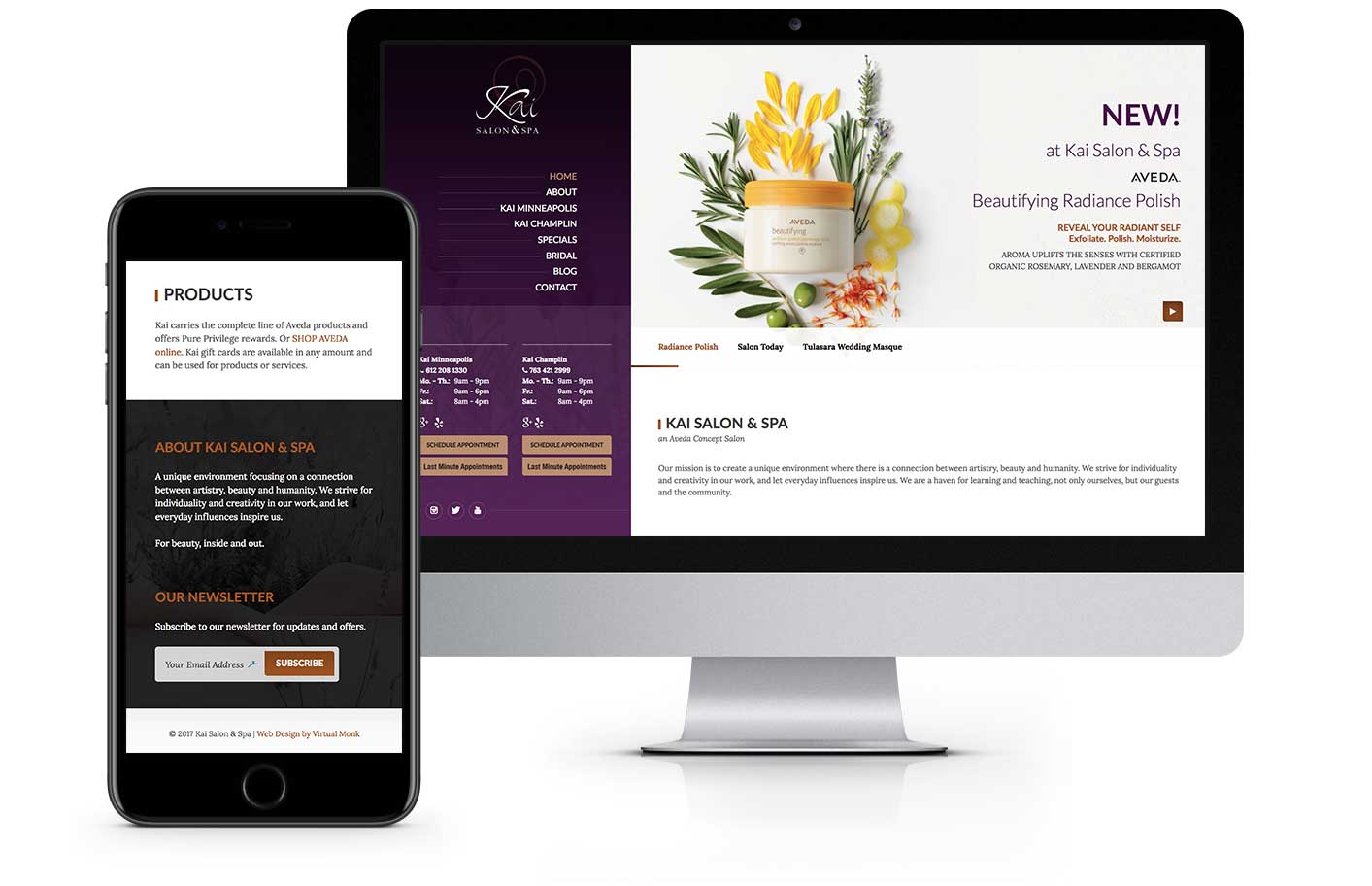 Web Design - Kai Salon Spa