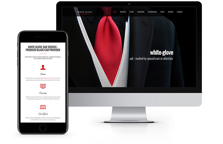 Web Design White Glove Car Service