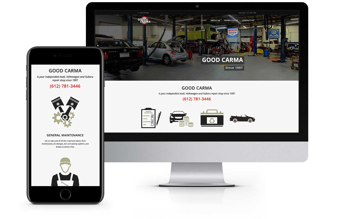 Web Design - Good Carma Auto Repair