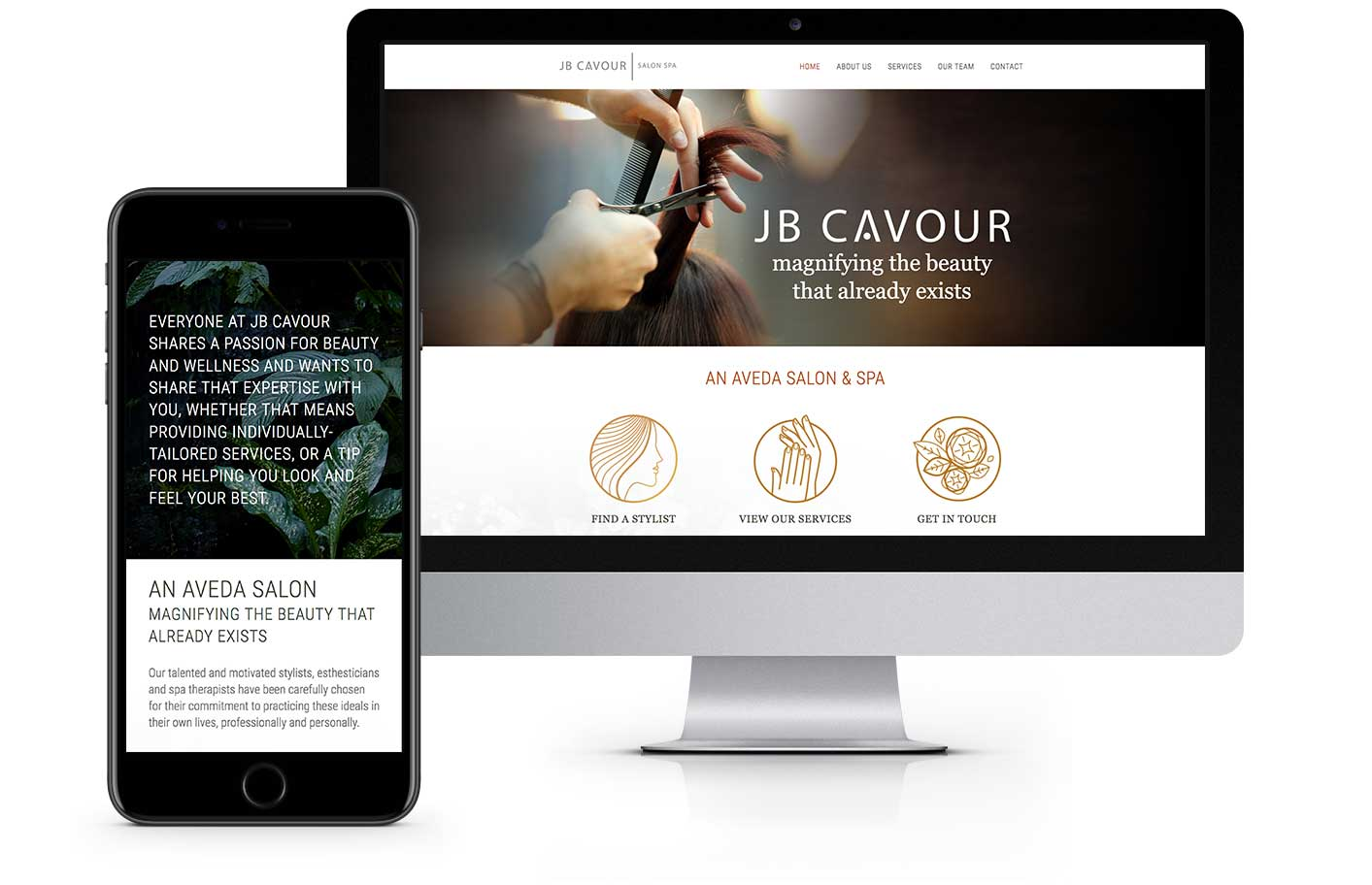 Web Design - JB Cavour Salon Spa