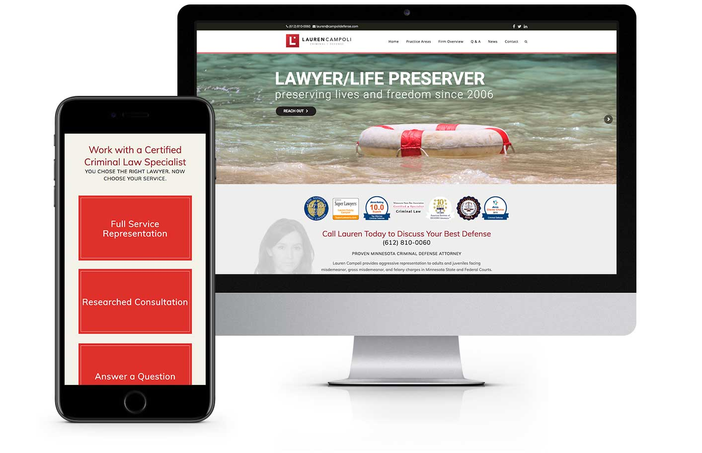 Web Design - The Law Office of Lauren Campoli