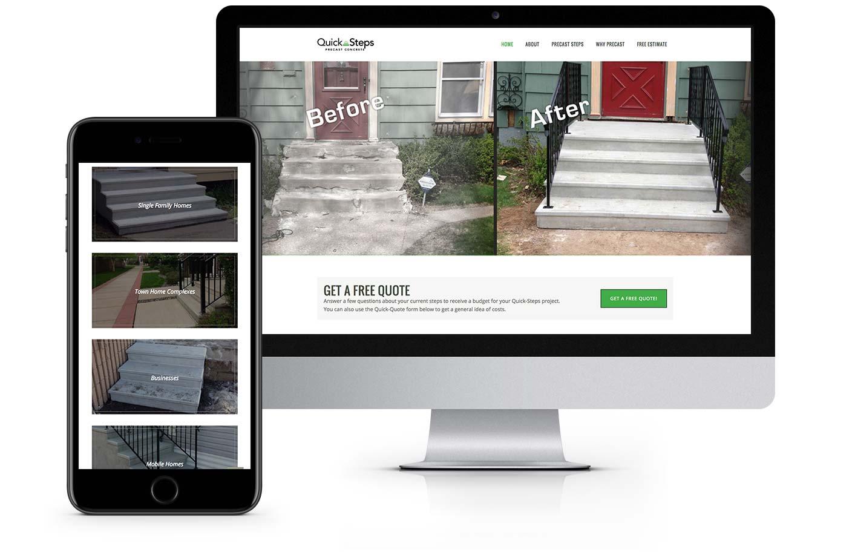 Web Design - Quick Steps Precast Concrete