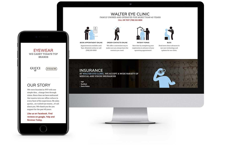 Web Design - Walter Eye Clinic